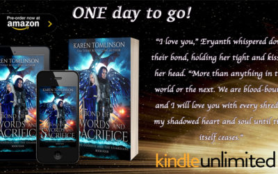 EEK! Only 1 Day until you can read the last book in The Goddess and the Guardians series!
